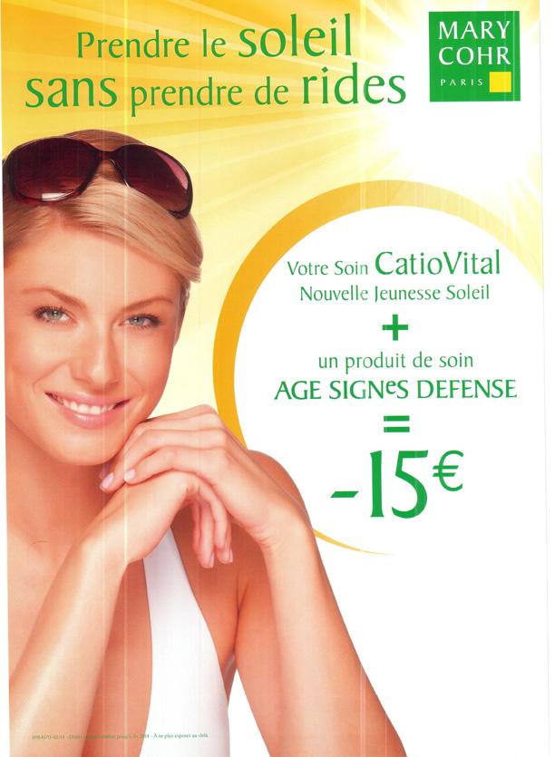 Réduction soin Catiovital + produit soin Signe Age Défense de Mary Cohr